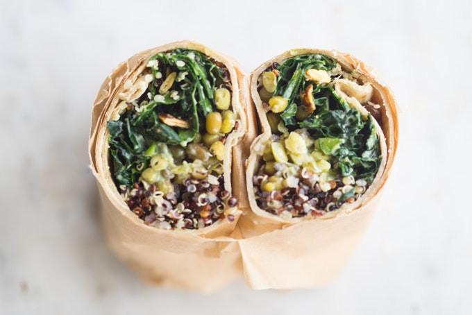 Good Burritos Don'T Fall Apart  Make Ahead Super Green Vegan Quinoa Burritos 101 Cookbooks