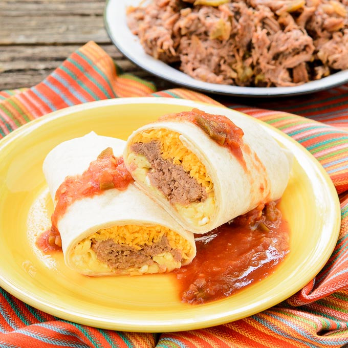Good Burritos Don'T Fall Apart  Mexican Shredded Beef Breakfast Burritos