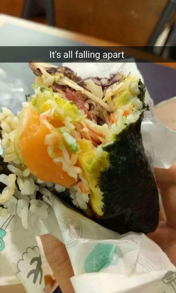 Good Burritos Don'T Fall Apart  SushiBurri Sushi Burrito Review