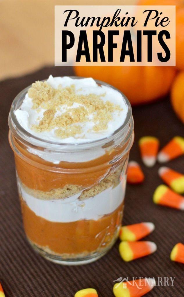 Good Fall Desserts  Pumpkin Pie Parfaits