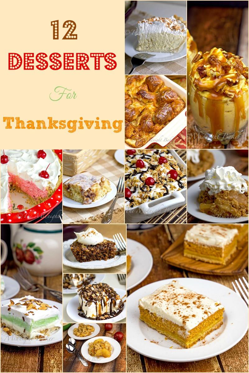 Good Thanksgiving Desserts  12 Great Thanksgiving Desserts The Midnight Baker