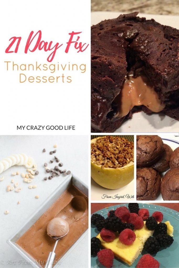 Good Thanksgiving Desserts  21 Day Fix Thanksgiving Desserts