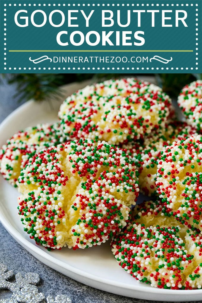 Gooey Butter Christmas Cookies  Gooey Butter Cookies Dinner at the Zoo