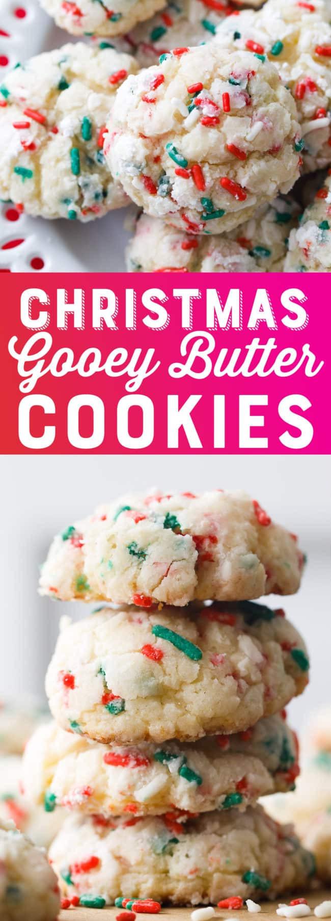 Gooey Butter Christmas Cookies  Christmas Gooey Butter Cookies Recipe Gooey Butter
