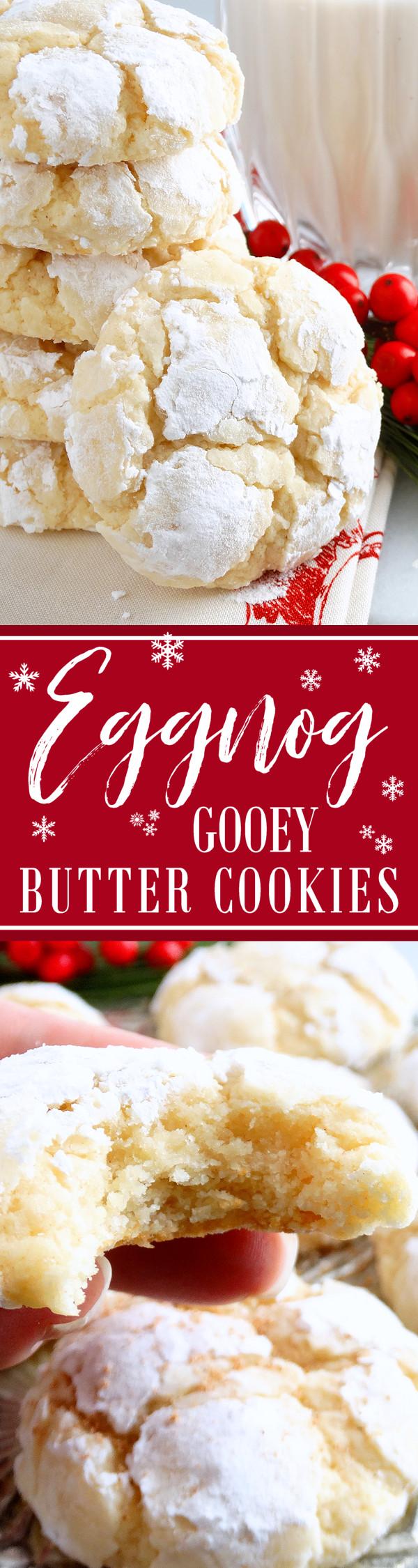 Gooey Butter Christmas Cookies  Eggnog Gooey Butter Cookies from scratch  Wicked Good