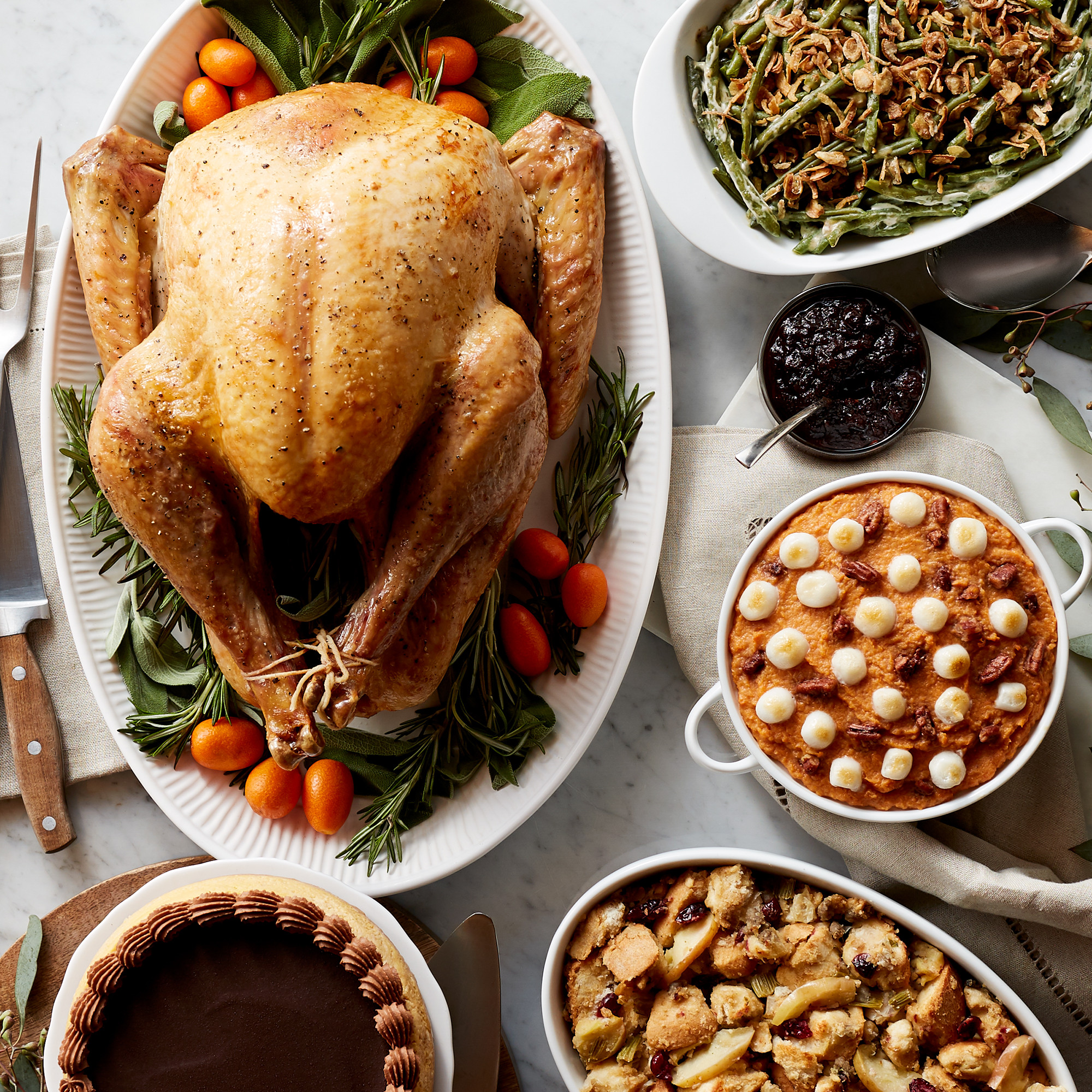 Gourmet Thanksgiving Dinner Delivered  Premium Turkey Dinner