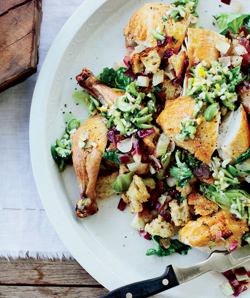 Gourmet Thanksgiving Dinner Delivered  Ode to Zuni Roast Chicken with Fennel Panzanella Suzanne