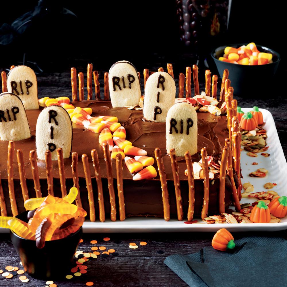Graveyard Cakes Halloween  Deserted Graveyard Cake Recipe