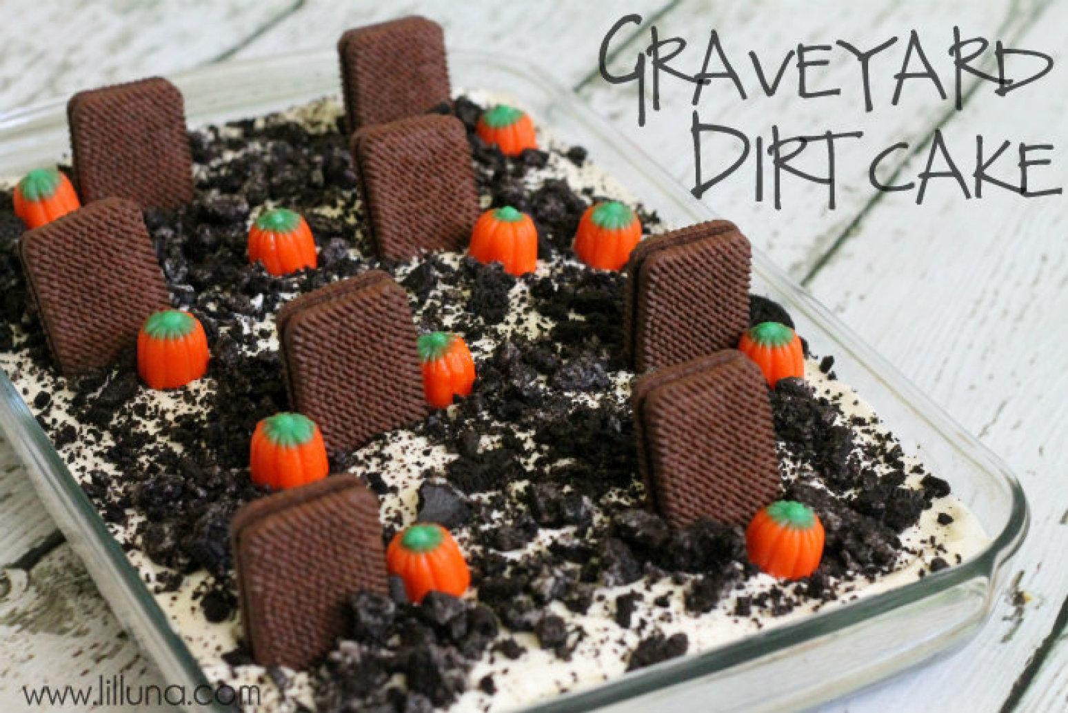 Graveyard Cakes Halloween  Graveyard Dirt Cake Recipe