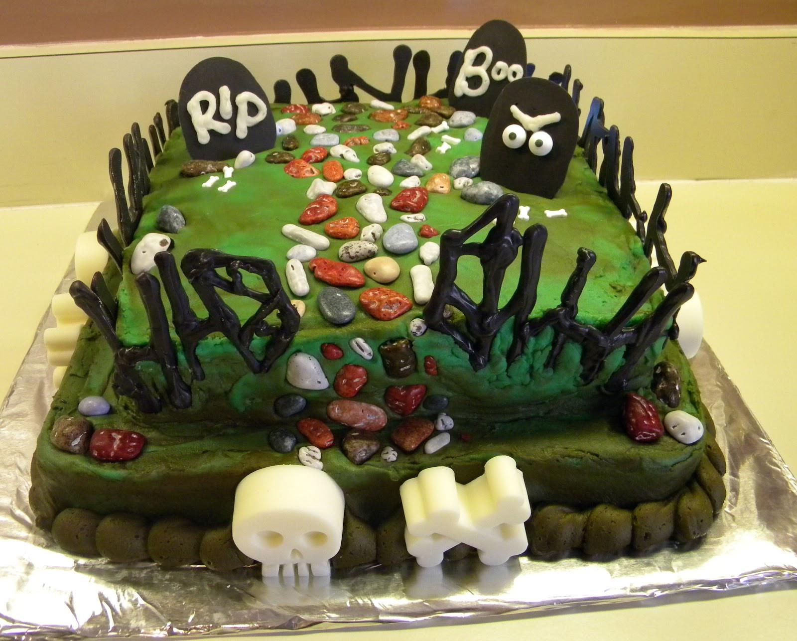Graveyard Cakes Halloween  Cake and Jewelry Graveyard cake