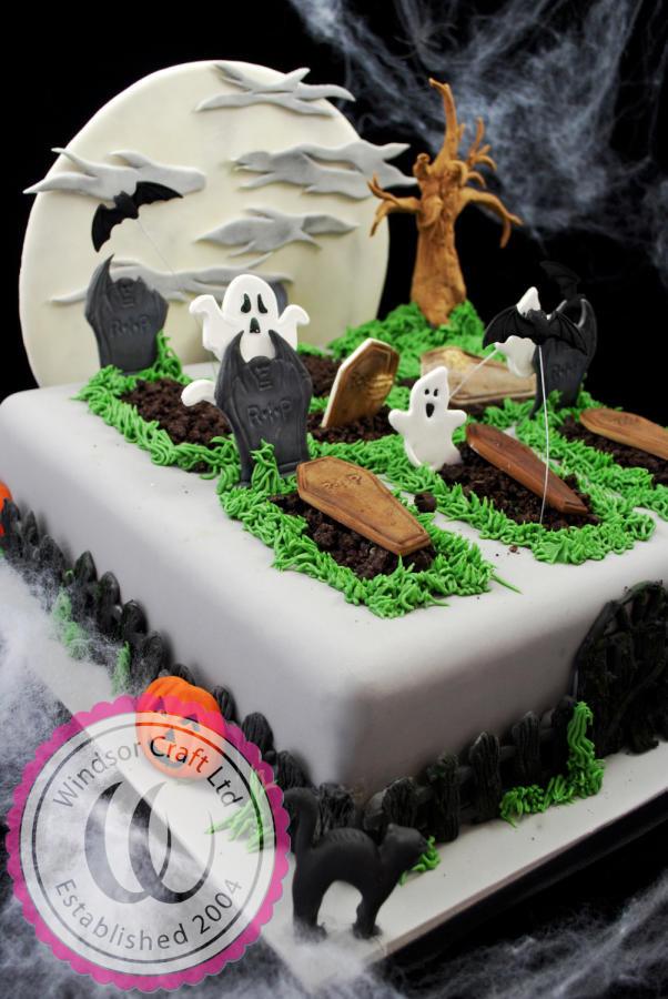 Graveyard Cakes Halloween  Halloween Graveyard Cake by Windsor cake by Windsor
