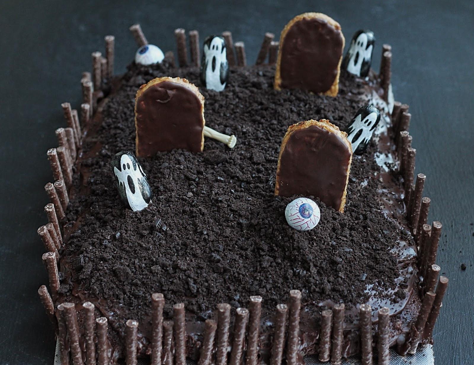 Graveyard Cakes Halloween  Good Food d Halloween Graveyard Cake