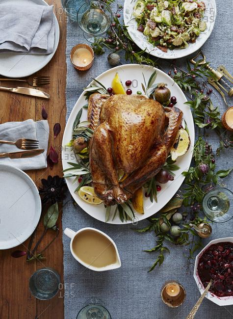Gravy Thanksgiving Side Dishes  gravy stock photos OFFSET