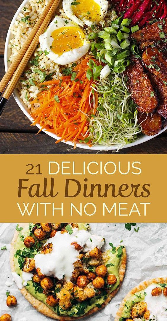 Great Fall Dinners  Dinner Fall and Ve arian snacks on Pinterest