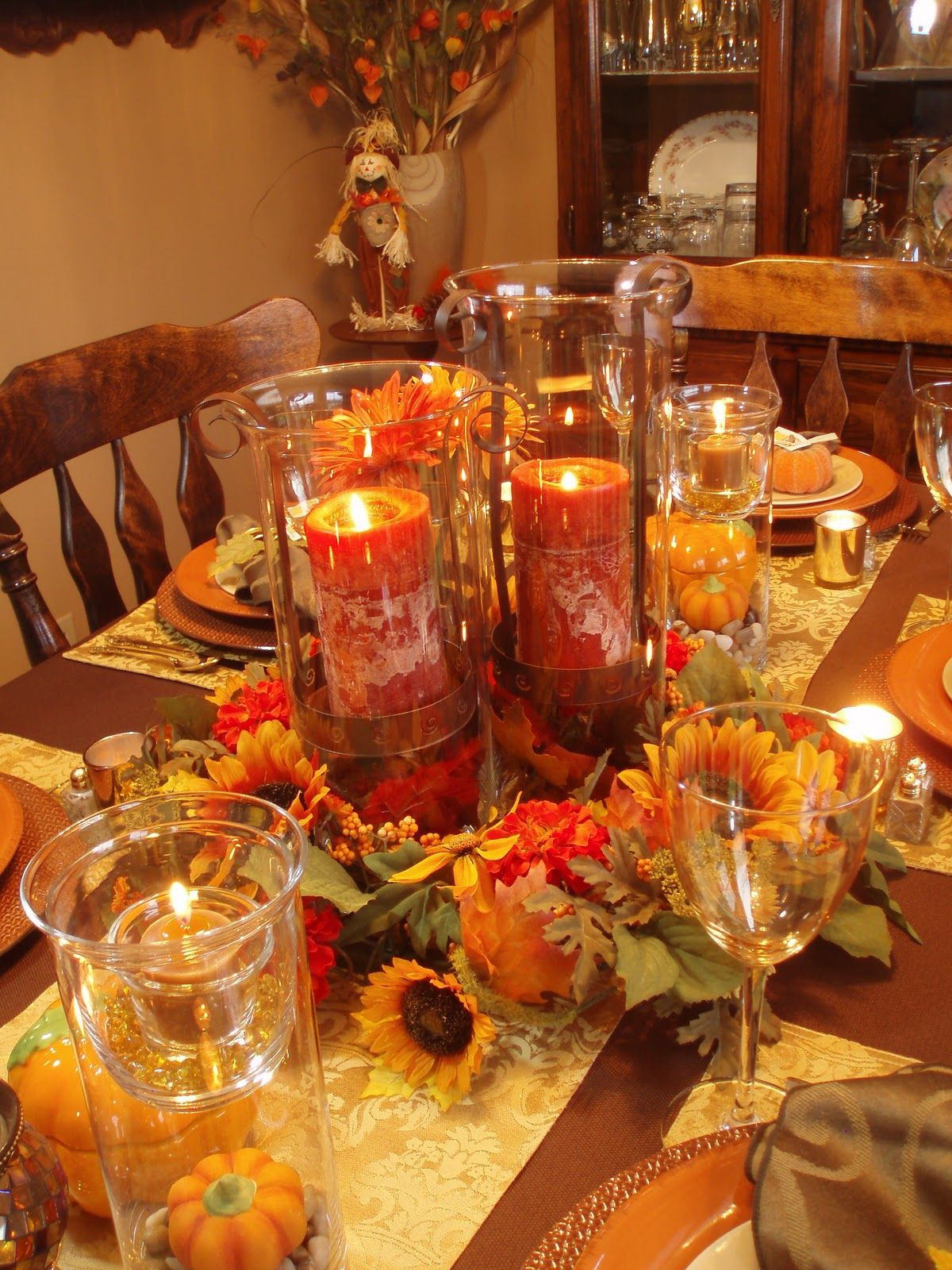 Great Fall Dinners  Autumn Tablescape Thanksgiving Table Fall Decor