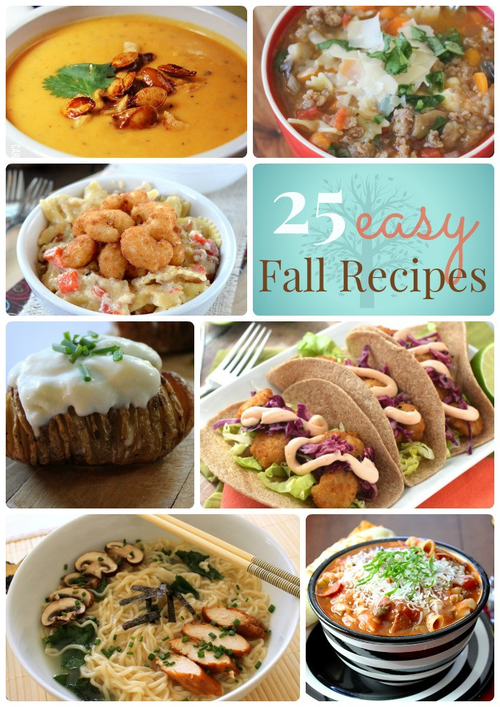 Great Fall Dinners  Great Ideas 25 Easy Fall Dinner Ideas