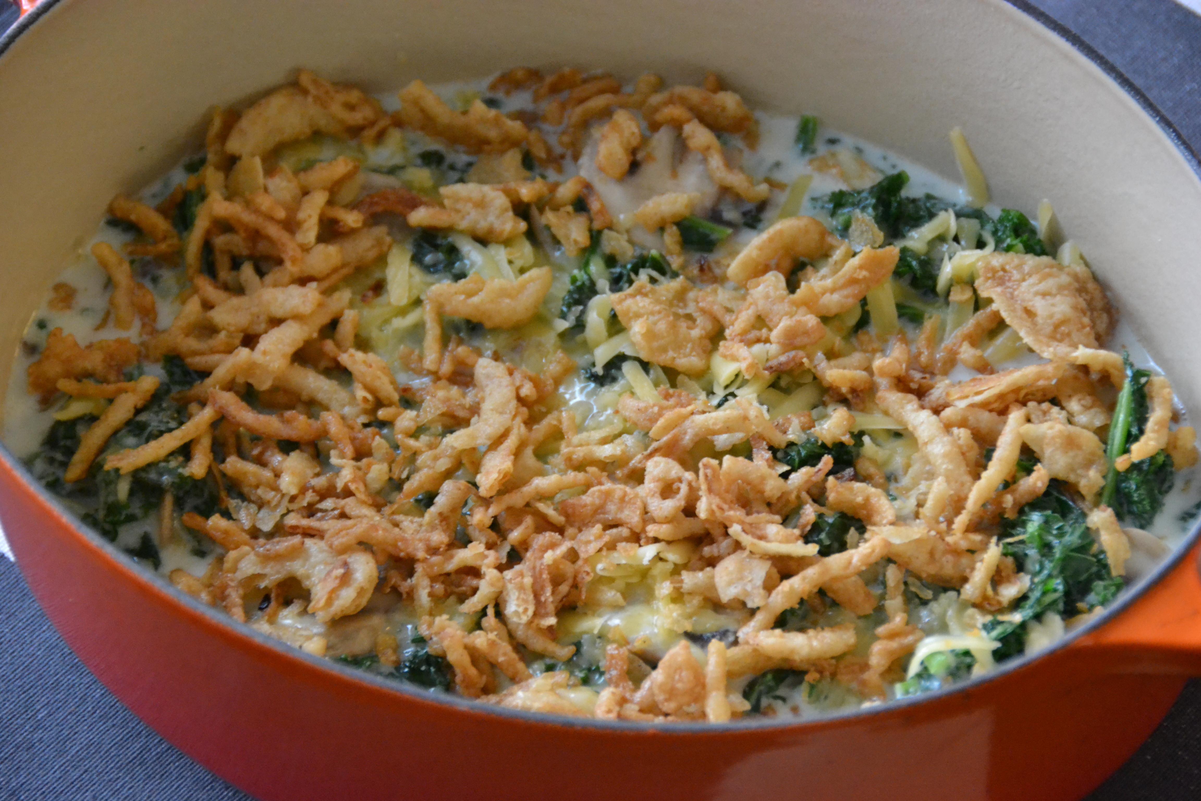 Green Bean Casserole Thanksgiving  Kale Casserole an Update on the Classic Thanksgiving