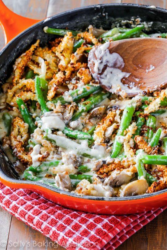 Green Bean Casserole Thanksgiving  Sallys Baking Addiction Creamy Green Bean Casserole from