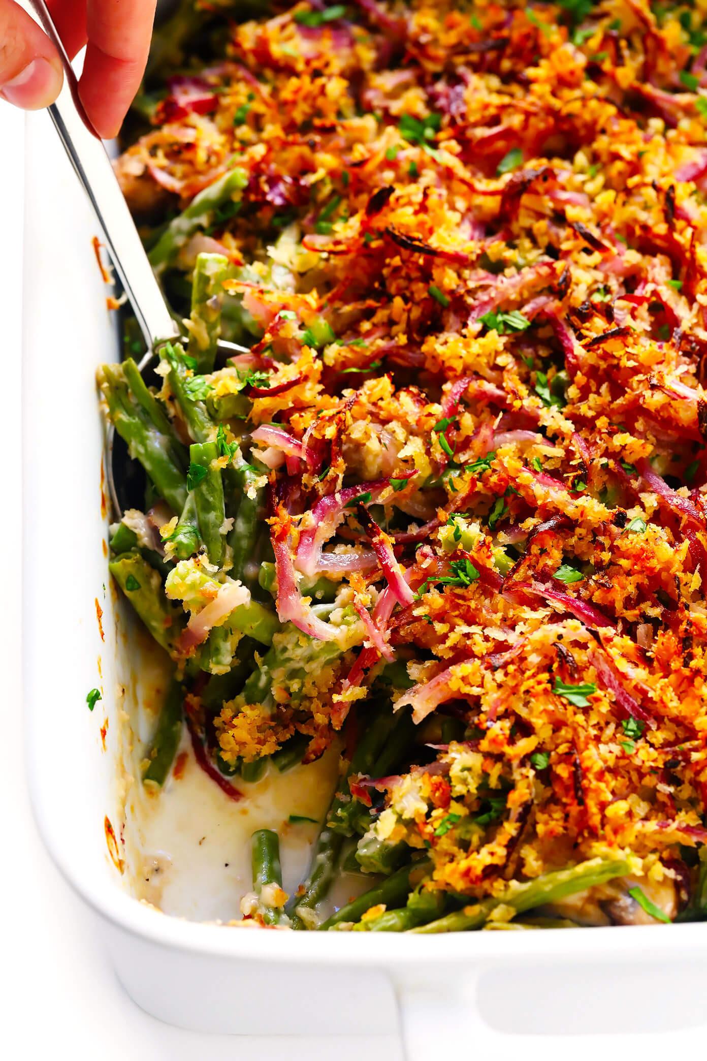 Green Bean Casserole Thanksgiving  Healthy Green Bean Casserole
