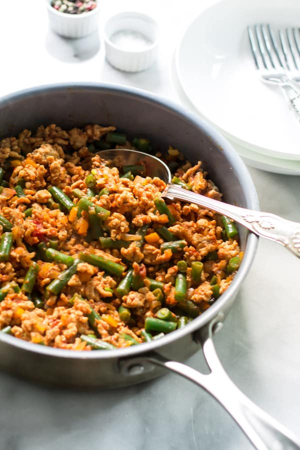 Green Bean Recipes For Thanksgiving  Ground Turkey Skillet with Green Beans Primavera Kitchen