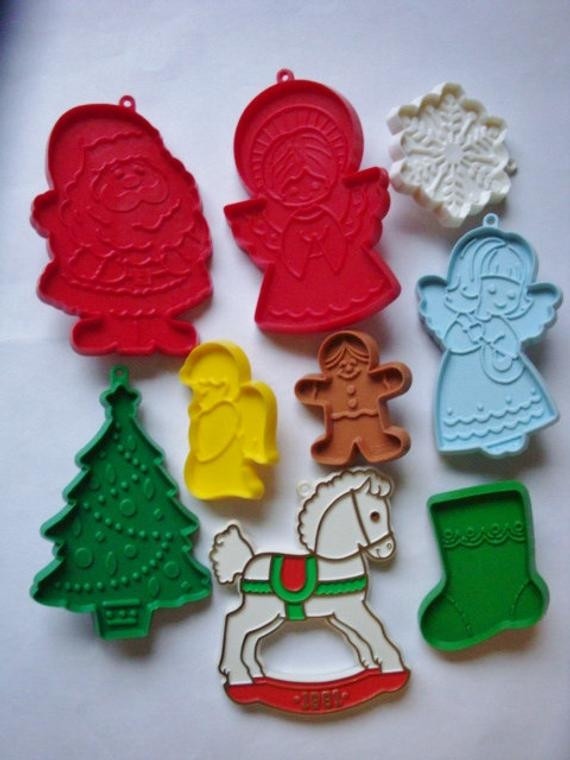Hallmark Christmas Cookies  Hallmark Christmas Cookie Cutter Plastic 1980s Collection of 9