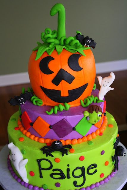 Halloween 1St Birthday Cake  Halloween 1st Birthday Cake Fall Fun
