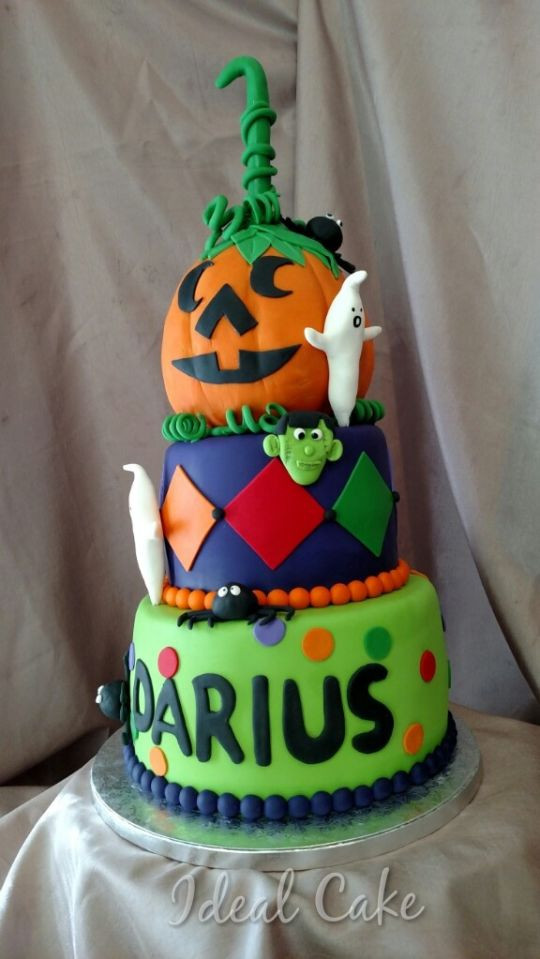 Halloween 1St Birthday Cake  Halloween 1st Birthday Cake by Kwajette CakesDecor
