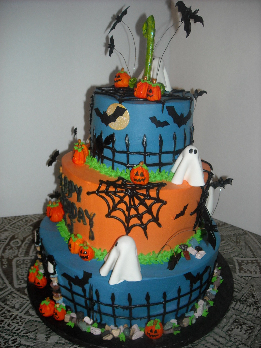 Halloween 1St Birthday Cake  Halloween Themed 1St Birthday Cake CakeCentral