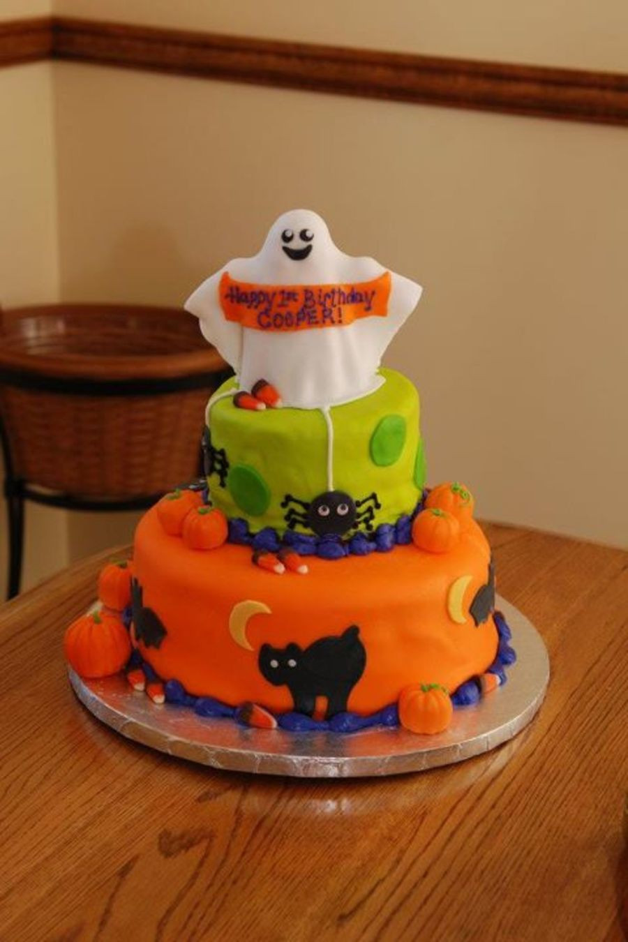 Halloween 1St Birthday Cake  Halloween First Birthday Cake CakeCentral
