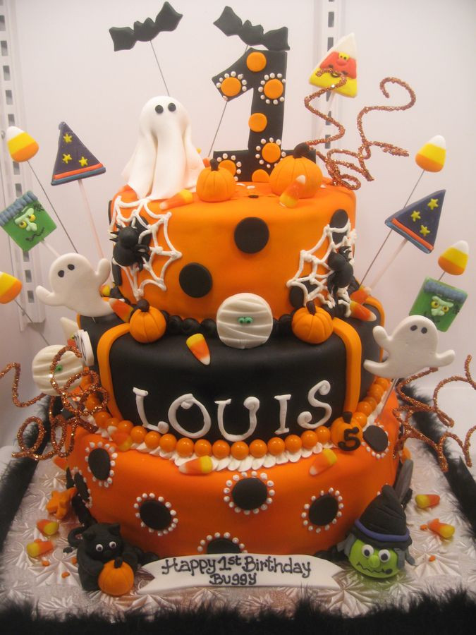 Halloween 1St Birthday Cake  24 best Mya s 1st birthday images on Pinterest