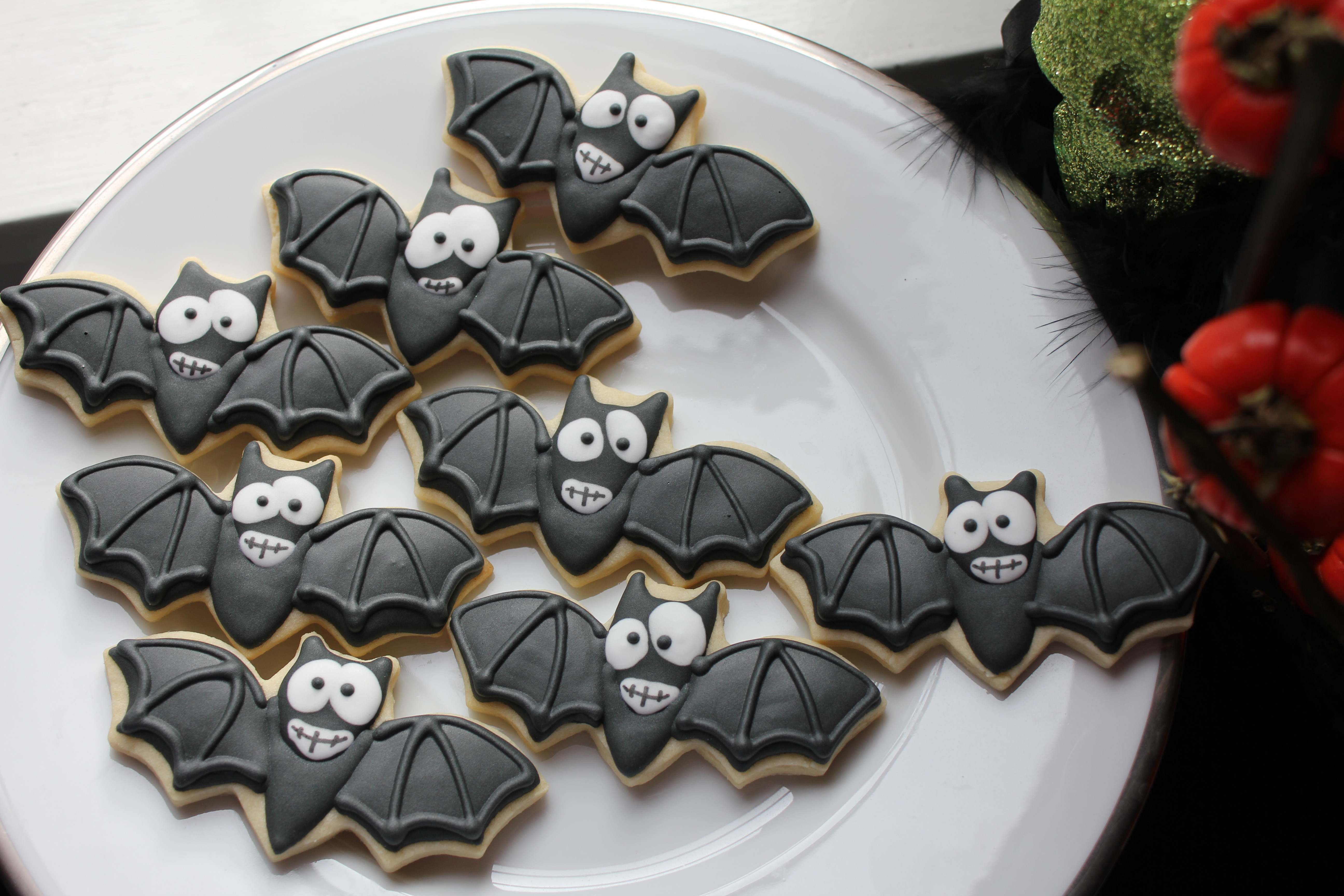 Halloween Bat Cookies  cat cookies