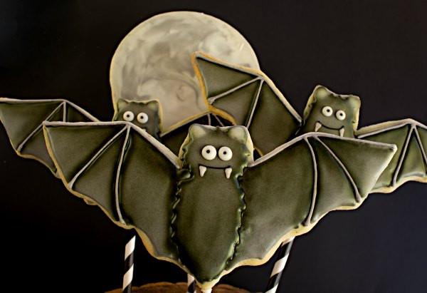 Halloween Bat Cookies  Bat and Moon Cookies for Halloween