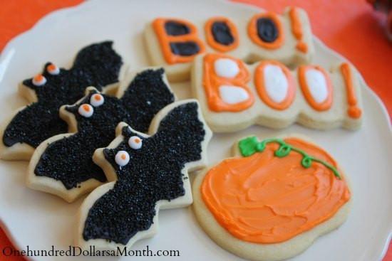 Halloween Bat Cookies  Halloween Bat Sugar Cookies e Hundred Dollars a Month