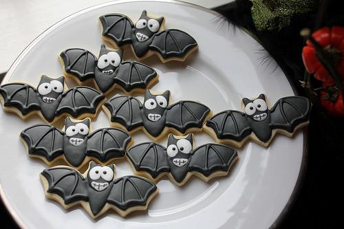 Halloween Bat Cookies  Halloween Cupcakes and Bat Cookies By cherrybrookkitchen