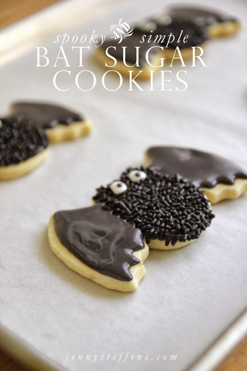 Halloween Bat Cookies  Jenny Steffens Hobick Spooky Bat Sugar Cookies