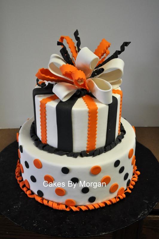 Halloween Bday Cakes  Morgan s Cakes Fondant Halloween Cake