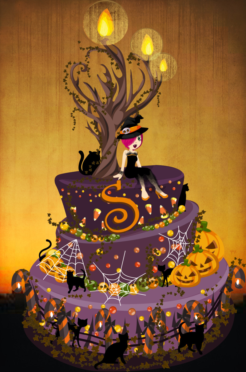 Halloween Bday Cakes  Halloween Birthday Cake by luvlemontea on DeviantArt