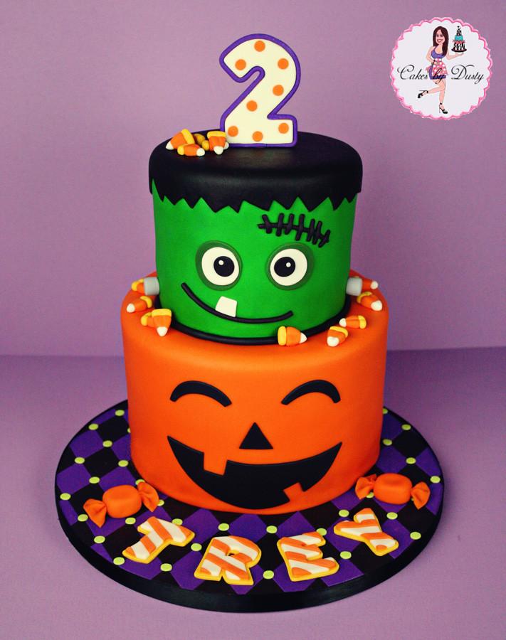 Halloween Birthday Cake Ideas  Cakes by Dusty Trey s Halloween Birthday Cake