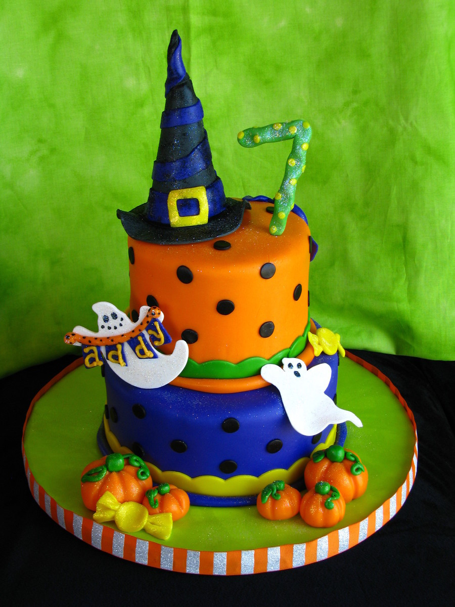 Halloween Birthday Cake Pictures  Halloween Birthday Cake CakeCentral