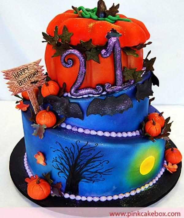 Halloween Birthday Cakes  Halloween Birthday Cakes Cathy