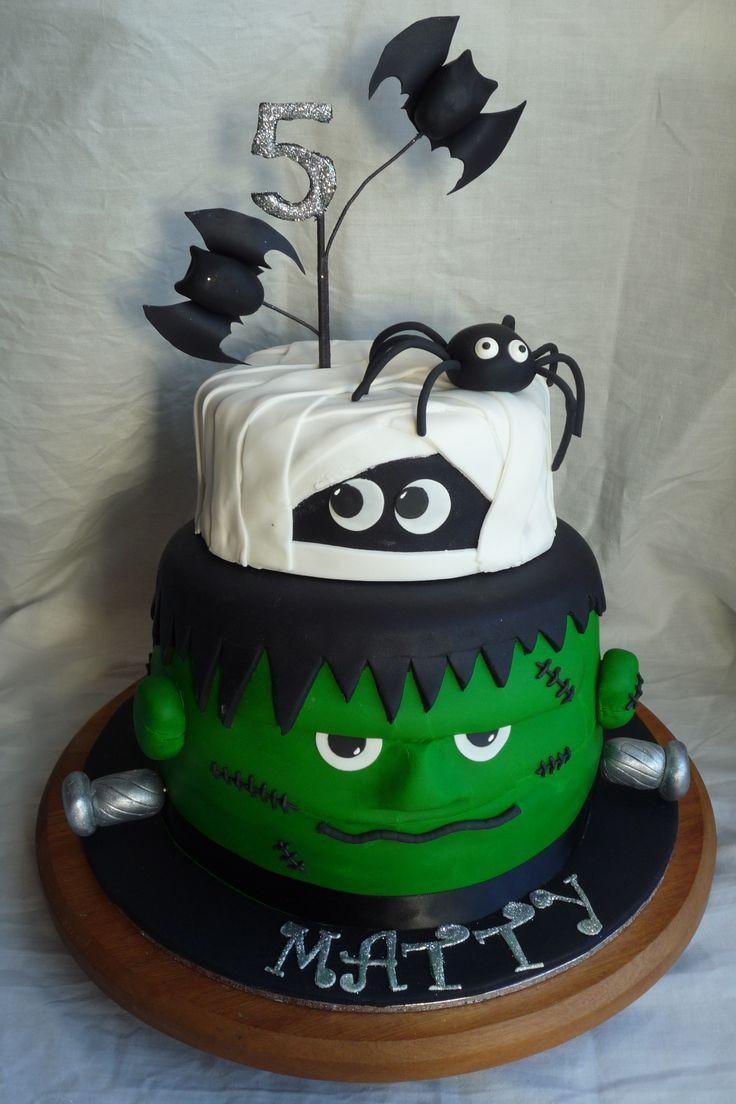 Halloween Birthday Cakes For Kids  Children s Birthday Cakes Frankenstein & mummy cake for