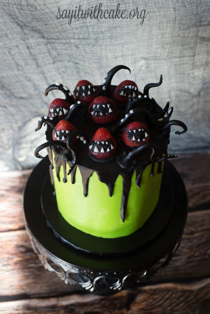 Halloween Birthday Cakes Pictures  Creepy Halloween Cake – Say it With Cake