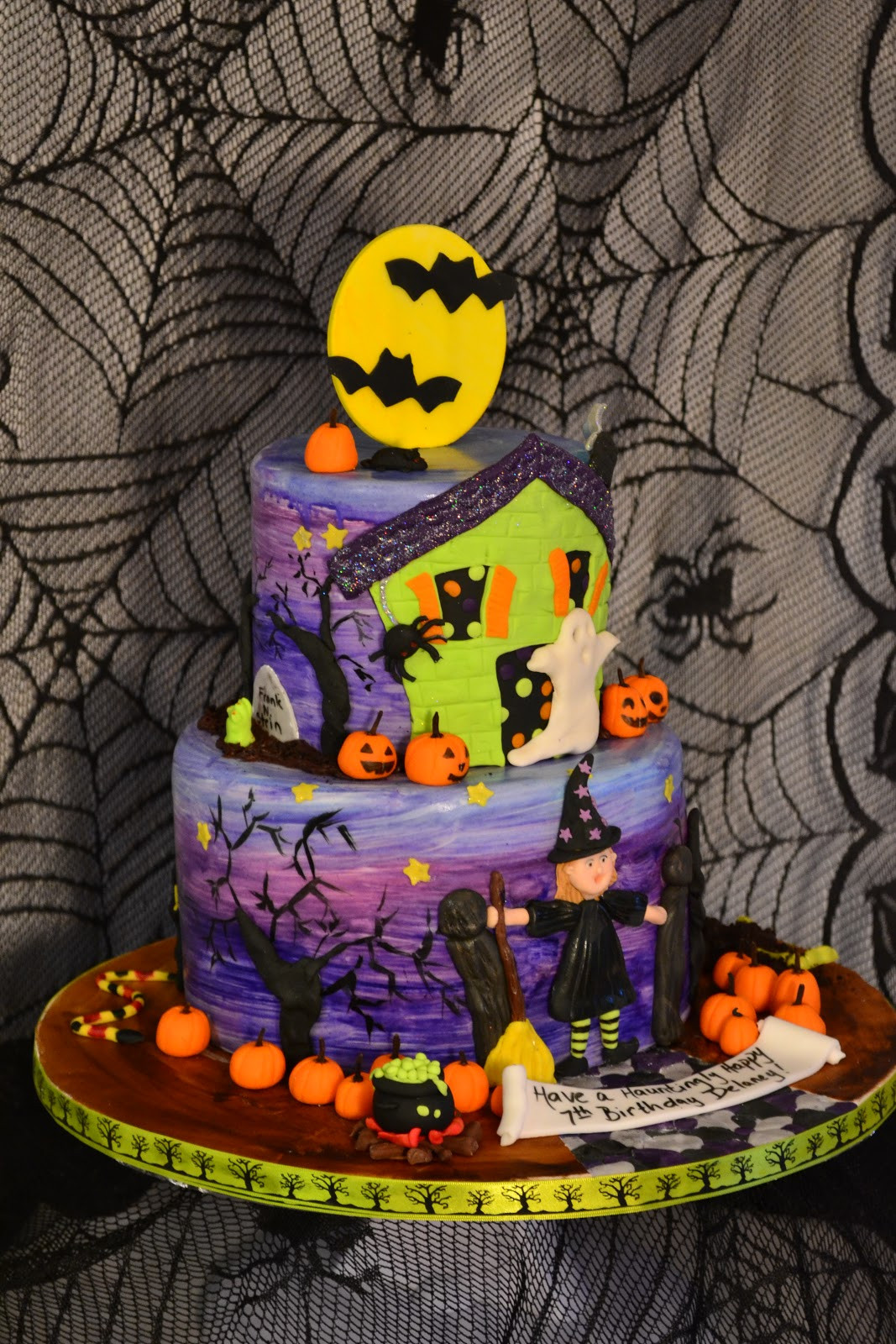 Halloween Birthday Cakes Pictures  Oh just put a cupcake in it Halloween birthday cake
