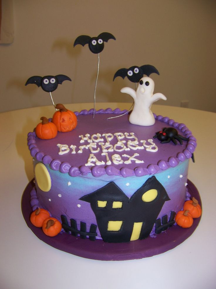 Halloween Birthday Cakes Pictures  Best 25 Halloween cake decorations ideas on Pinterest