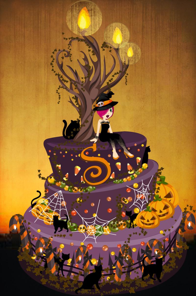 Halloween Birthday Cakes  Halloween Birthday Cake by luvlemontea on DeviantArt