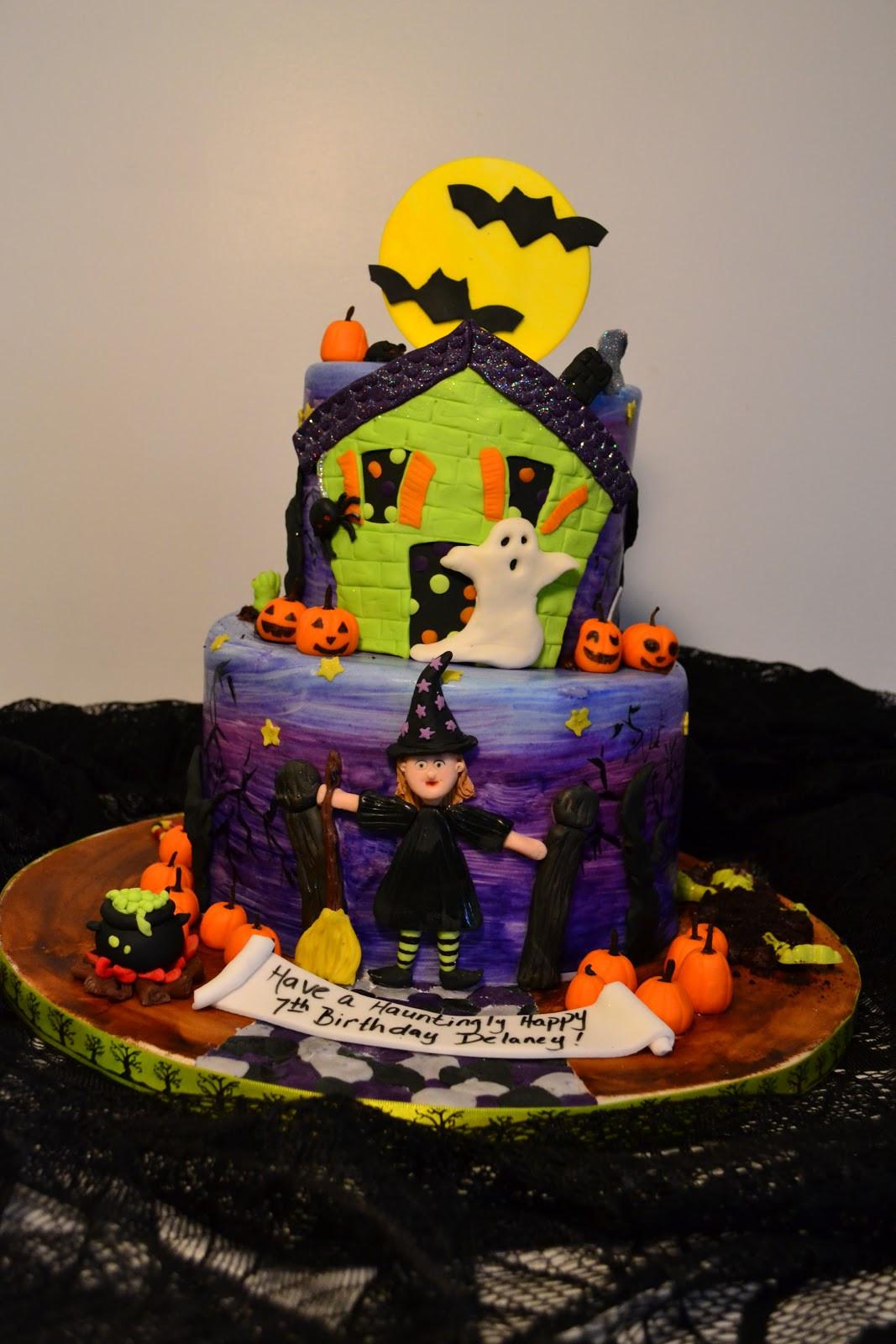 Halloween Birthday Cakes  Oh just put a cupcake in it Halloween birthday cake