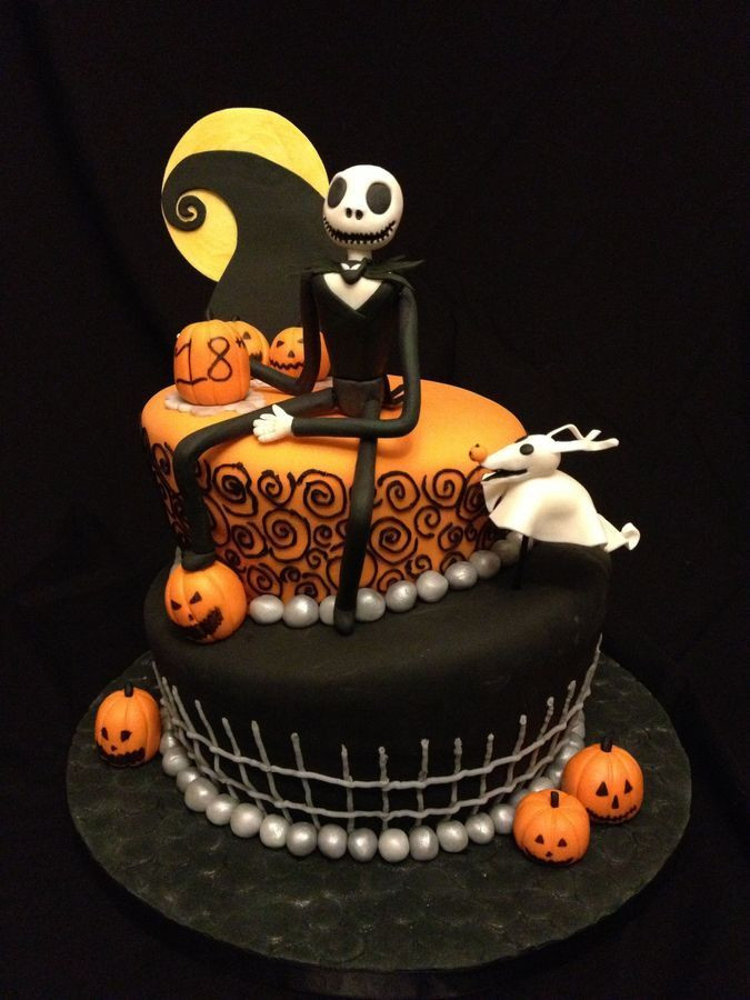 Halloween Birthday Cupcakes  Nightmare Before Christmas themed cake We could do this
