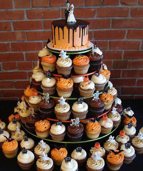 Halloween Birthday Cupcakes  Halloween themed weddings
