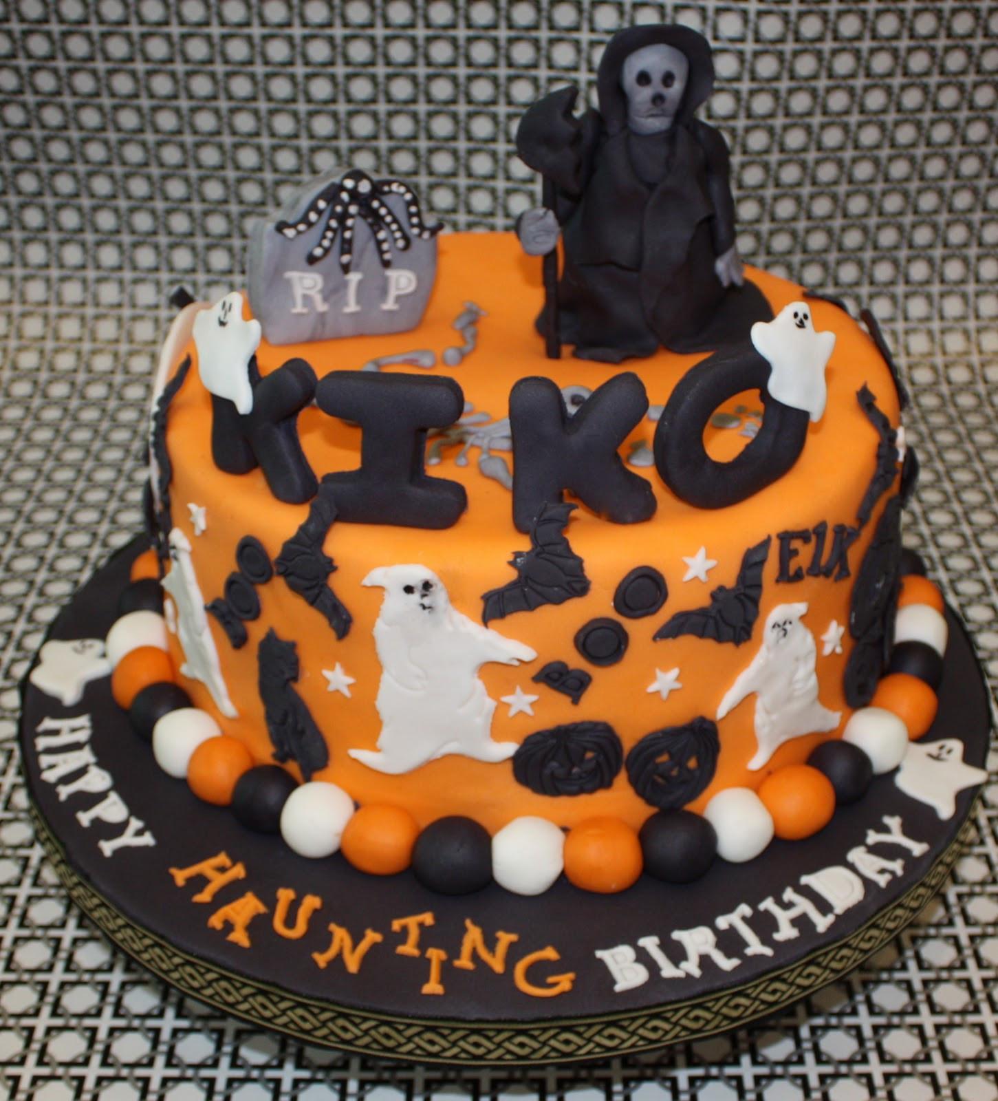 Halloween Birthday Cupcakes  HALLOWEEN BIRTHDAY CAKE