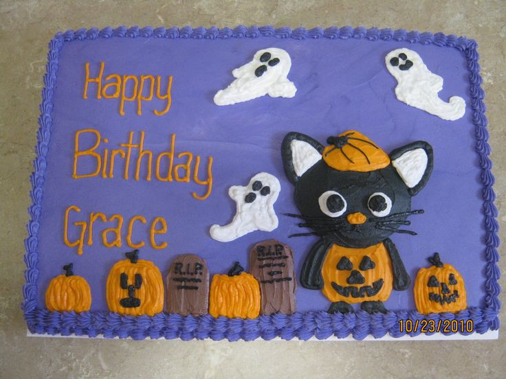 Halloween Birthday Sheet Cakes  1000 ideas about Birthday Sheet Cakes on Pinterest